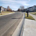Pavement, new driveway entrances and sidewalks are shown in this image of Shenandoah St in Edgerton after the street reconstruction was completed in 2019
