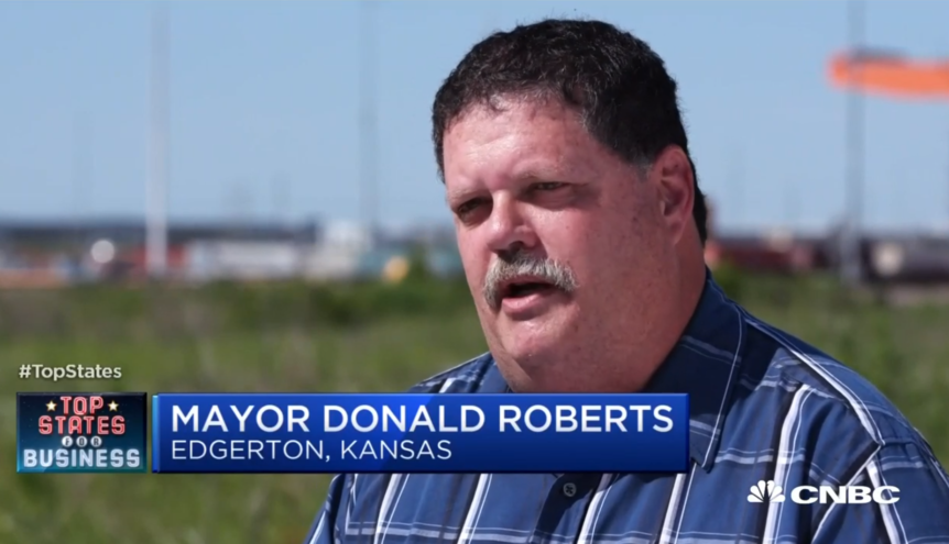 Mayor Donald Roberts appears on CNBC